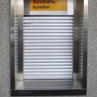 Postschalter mit Sicherheitssrollladen, Rapperswil